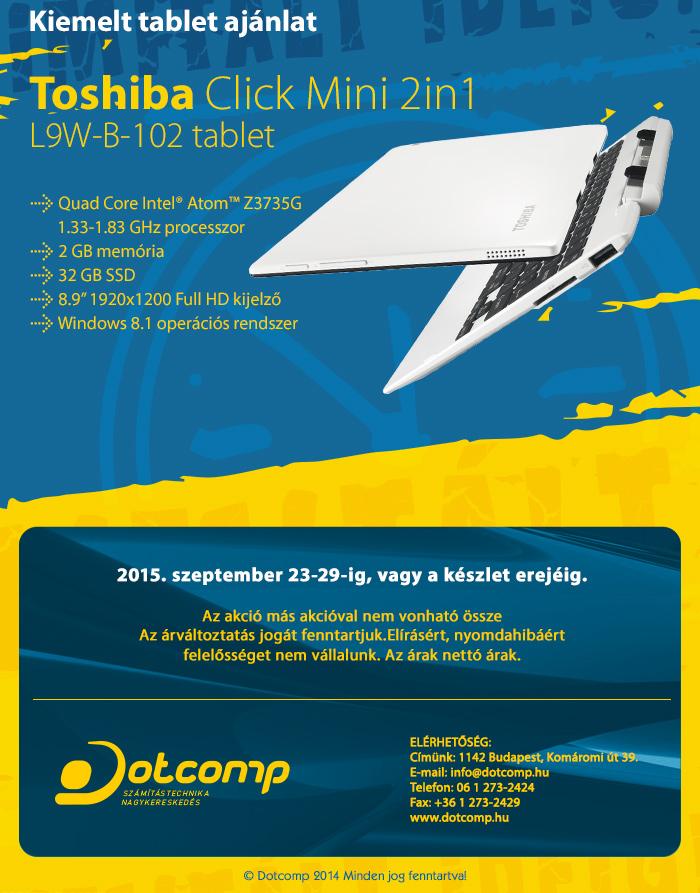 Toshiba Click Mini L9W-B-102 tablet